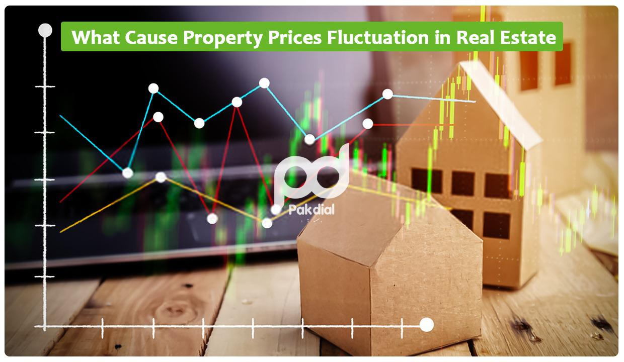 What causes property price fluctuations in real estate?